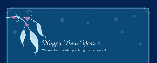 Happy New Year - We want to know what you thought of our service!