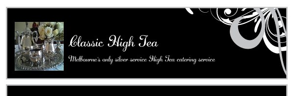 Classic High Tea  - Melbourne's only silver service High Tea catering service