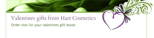 Valentines gifts from Hart Cosmetics - Order now for your valentines gift boxes