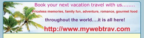 Book your next vacation travel with us........ - Priceless memories, family fun, adventure, romance, gourmet food