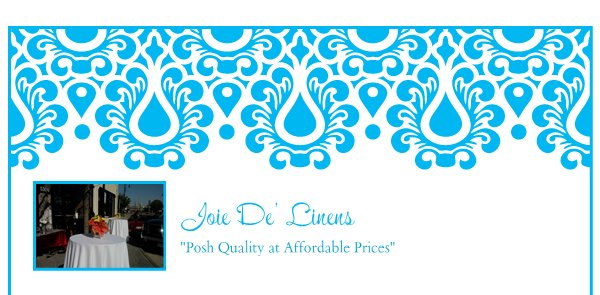 "Joie De' Linens - ""Posh Quality at Affordable Prices"""
