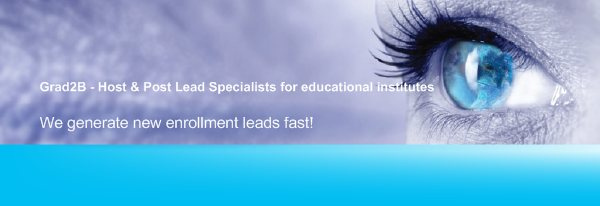 Grad2B - Host & Post Lead Specialists for educational institutes - We generate new enrollment leads fast!
