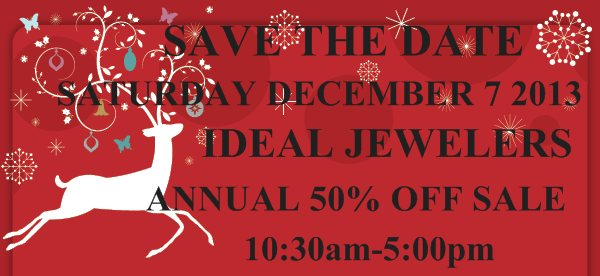SAVE THE DATE  - SATURDAY DECEMBER 7 2013