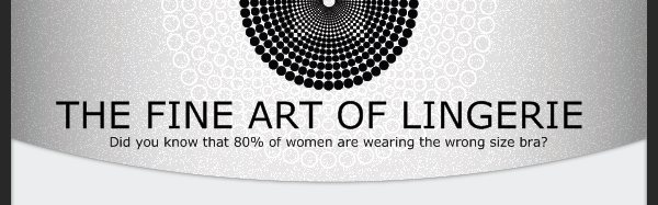 THE FINE ART OF LINGERIE - Did you know that 80% of women are wearing the wrong size bra?