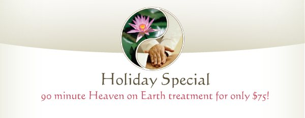 Holiday Special - 90 minute Heaven on Earth treatment for only $75!