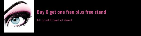 Buy 6 get one free plus free stand - Till point Travel kit stand