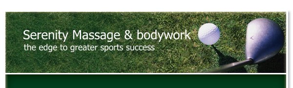 Serenity Massage & bodywork - the edge to greater sports success