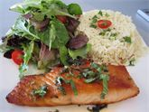 Pan Seared Honey Mint and Lime Salmon