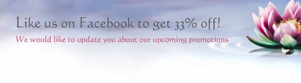 Like us on Facebook to get 33% off! - We would like to update you about our upcoming promotions