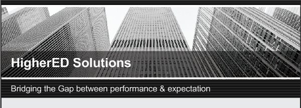 HigherED Solutions - Bridging the Gap between performance & expectation
