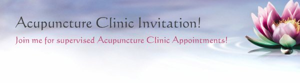 Acupuncture Clinic Invitation! - Join me for supervised Acupuncture Clinic Appointments!